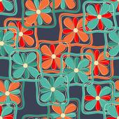 Fleurs sans soudure dans des cadres carrés — Vecteur