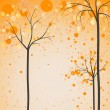 Stock Vector: Autumn trees