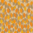 Seamless pattern with bright autumn leaves — Grafika wektorowa