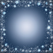 Stock Vector: Gentle christmas frame from stars and snowflakes