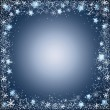Gentle christmas frame from stars and snowflakes — Stock Vector