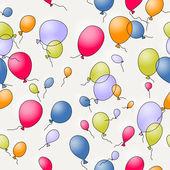 Seamless balloons — Stock Vector