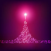 Pink shiny christmas tree — Stock Vector