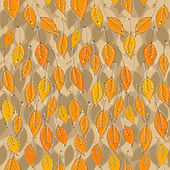 Seamless pattern with bright autumn leaves — Stock Vector