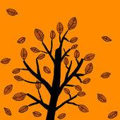 Autumn tree — Stockvector