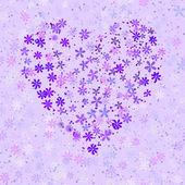 Seamless floral heart — Stock Vector