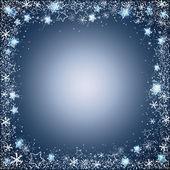 Zachte kerstmis frame van sterren en sneeuwvlokken — Stockvector
