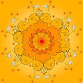 Orange flower — Stock Vector