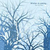 Vinter träd bakgrund — Stockvektor