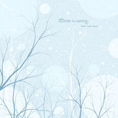 Winter trees background — Stock Vector