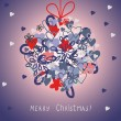 Cute christmas card with hanging ball — Stock Vector #37470183