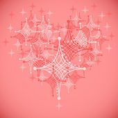 Beautiful heart from abstract stars — Stockvector