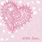 Cute card with heart — Stock Vector