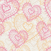 Seamless hearts — Stock Vector