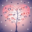 Heart shaped tree — Stock Vector