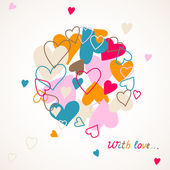 Cute card with hearts — Stock Vector