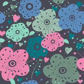 Seamless flowers — Stock Vector