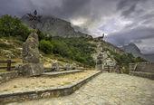 Viewpoint Tombo in Posada de Valdeon, Leon, Spain — Stock Photo