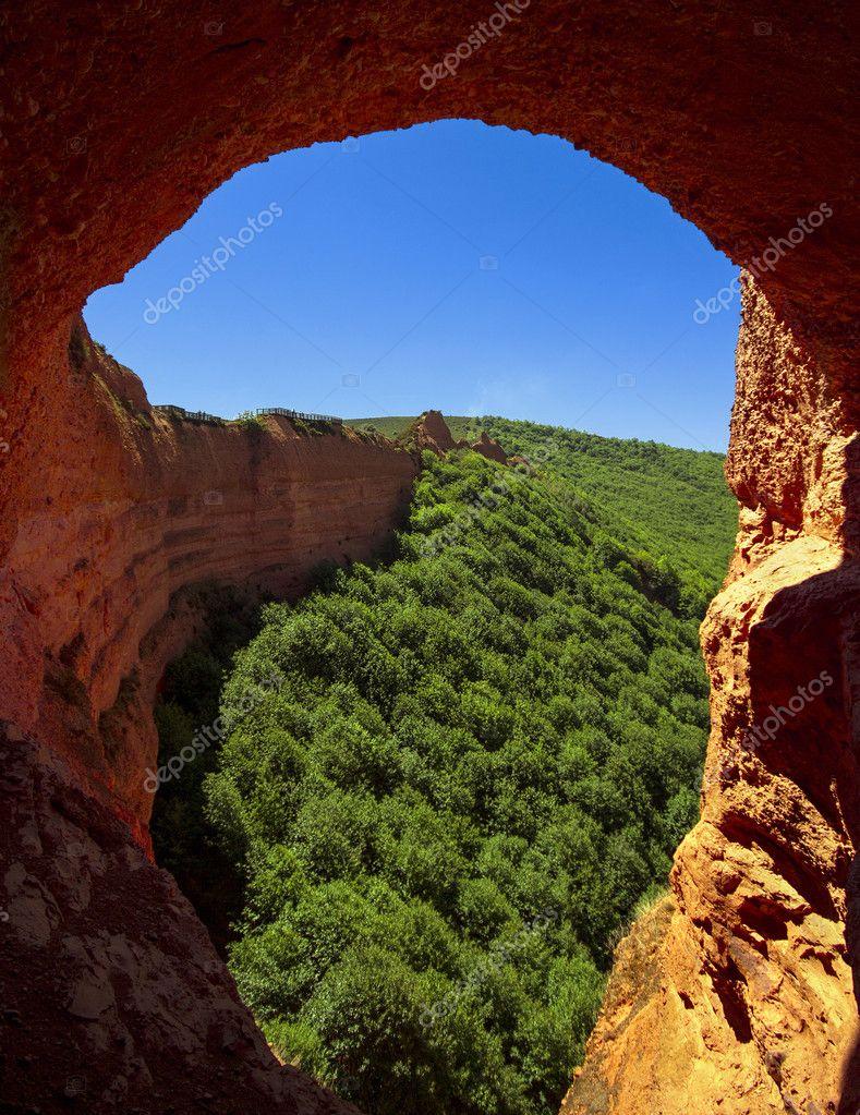 Las Medulas, Roman gold mines, UNESCO, Leon, Spain — Stock Photo © Getino13 #...