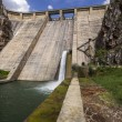 Stock Photo: View of dam of Barrios de Luna, Leon, Spain