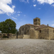 View of church of Pedraza, Segovia, Castilla-Leon, Spain - Stock Photo