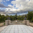 Gardens of La Granja de San Ildefonso in Segovia, Castilla-Leon, - Stock Photo