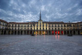 Plaza Mayor of Leon, Castilla-Leon, Spain — Stock Photo