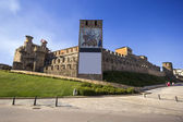 Panoramic view of Templar Castle in Ponferrada, Leon, Sapin — Stock Photo