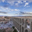 Royalty-Free Stock Photo: View of aqueduct of Segovia, Castilla-Leon, Spain