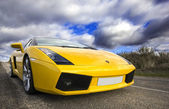 LEON, SPAIN - NOVEMBER 15: A Lamborghini Gallardo participating — Foto de Stock