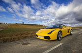 LEON, SPAIN - NOVEMBER 15: A Lamborghini Gallardo participating — Stock Photo