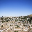 Albaicin (Old Muslim quarter) district of Granada seen from Alha — Stock Photo #34688061
