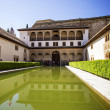 Stock Photo: Patio de los Arrayanes (Court of the Myrtles) in La Alhambra, Gr