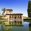 Partal Palace in La Alhambra in Granada, Andalusia, Spain — Stock Photo