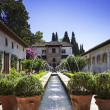 View of the Patio de la Acequia in the Palacio del Generalife, p — Stock Photo