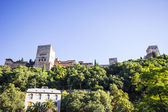 View of the Alhambra from the Paseo de los Tristes in Granada, A — Stock Photo