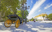 Carriages in the streets of Seville, Andalusia, Spain — Stock Photo