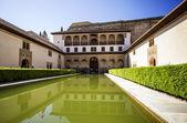 Patio de los arrayanes (patio de los arrayanes) en la alhambra, gr — Foto de Stock