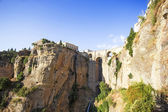 View of the bridge of Ronda, one of the most famous white villag — Stock Photo