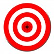 Red target symbol — Stock Photo