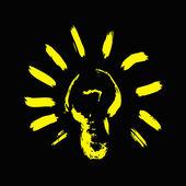 黒の背景上の電球 — ストック写真