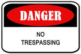 No trespassing signal — Stock Photo