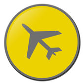 Airplane icon in color — Stock Photo