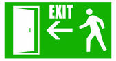 Fire emergency exit signal — Stock Photo