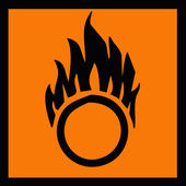Oxidizer symbol — Stock Photo