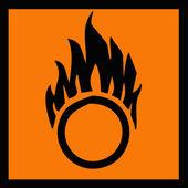 Oxidizer symbol — Stock Photo