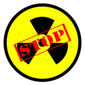 Stop nuclear energy — Stock Photo