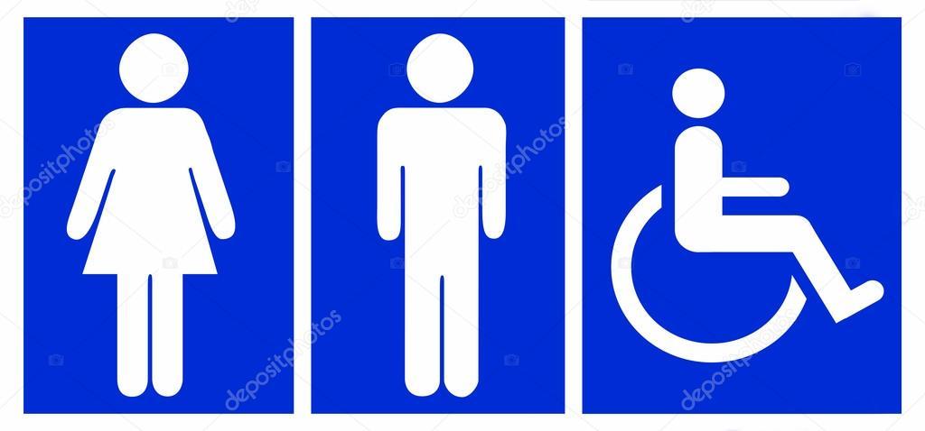 Imagen De Baño Hombre:Hombre, mujer y no válido, símbolo de baño o toilette – Imagen de
