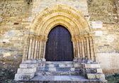 Dörren till förlåtelse av kyrkan i santiago i villafranca del — Stockfoto