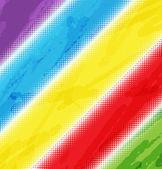 Fondo arco iris halfton — Vector de stock